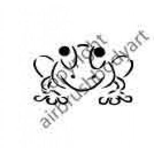 0274 frog reusable stencil